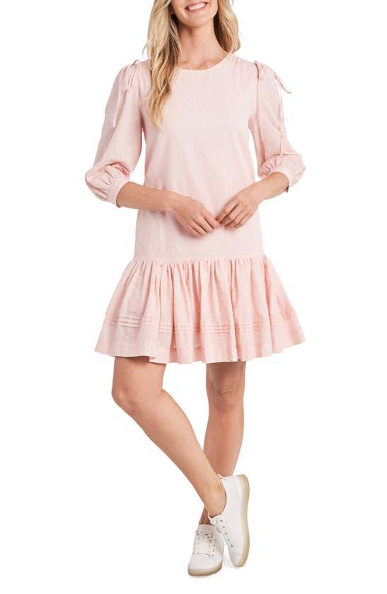Cece Mini dresses CLIP DOT DROP WAIST DRESS