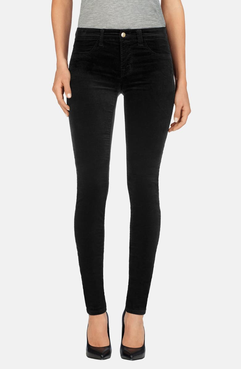 J BRAND Mid Rise Super Skinny Jeans, Main, color, 001