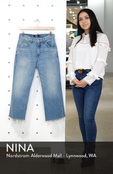 Sloane High Waist Crop Baggy Jeans, sales video thumbnail