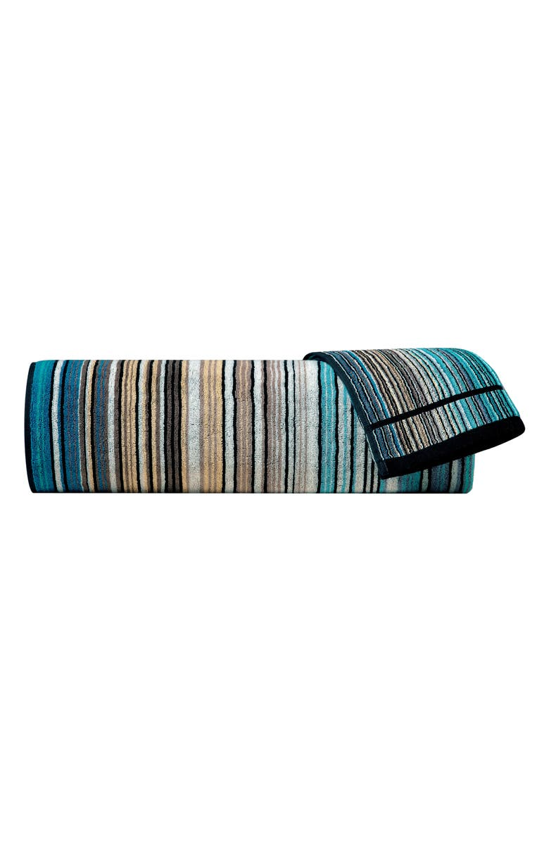 MISSONIHOME Missoni Tabata Bath Towel, Main, color, MULTI BLUE