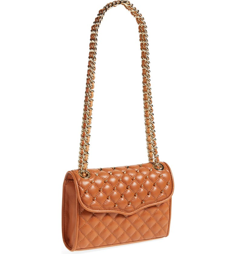 REBECCA MINKOFF 'Mini Quilted Affair with Studs' Shoulder Bag, Main, color, 210