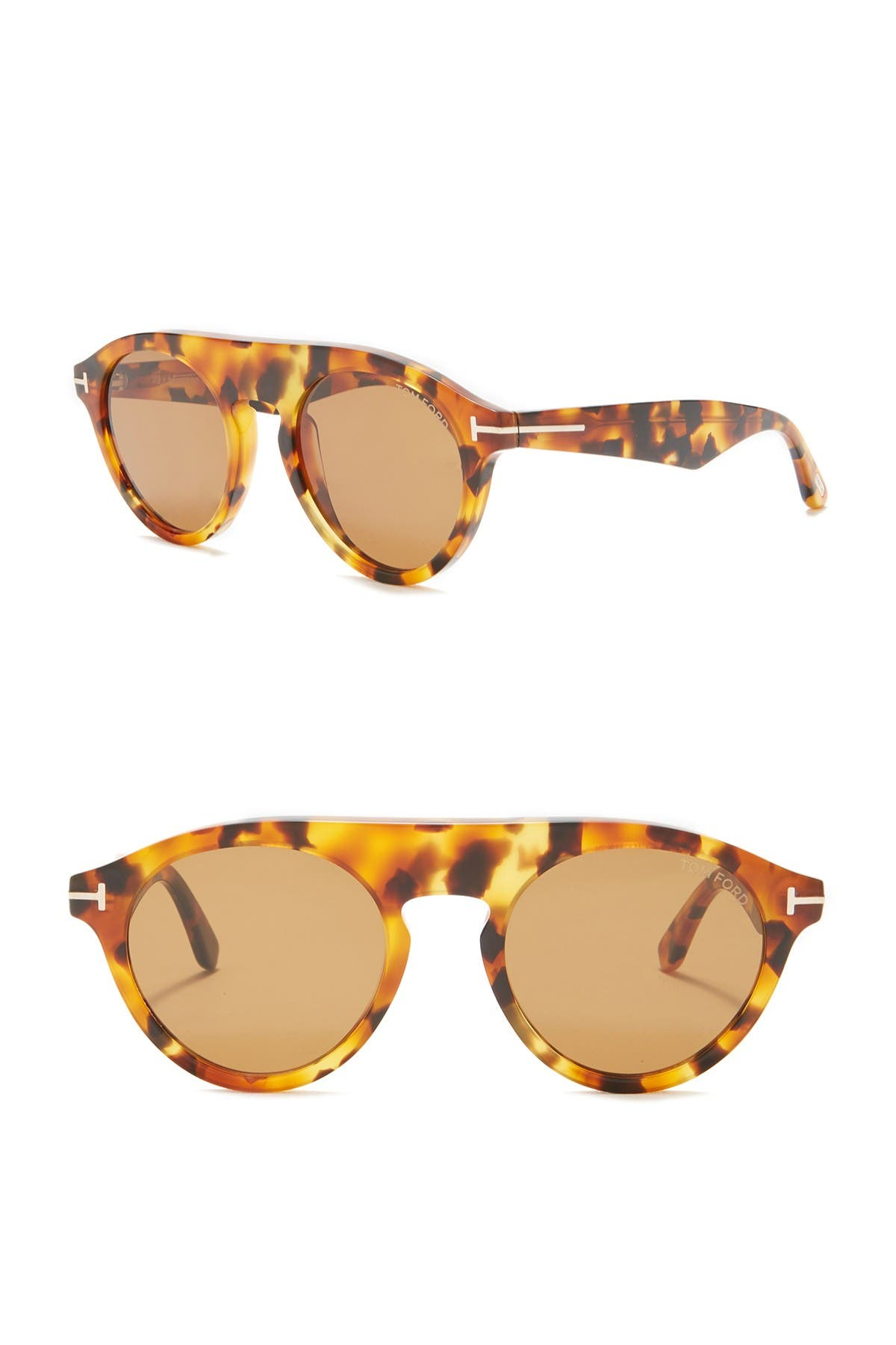 Image of Tom Ford Christopher 49mm Round Sunglasses