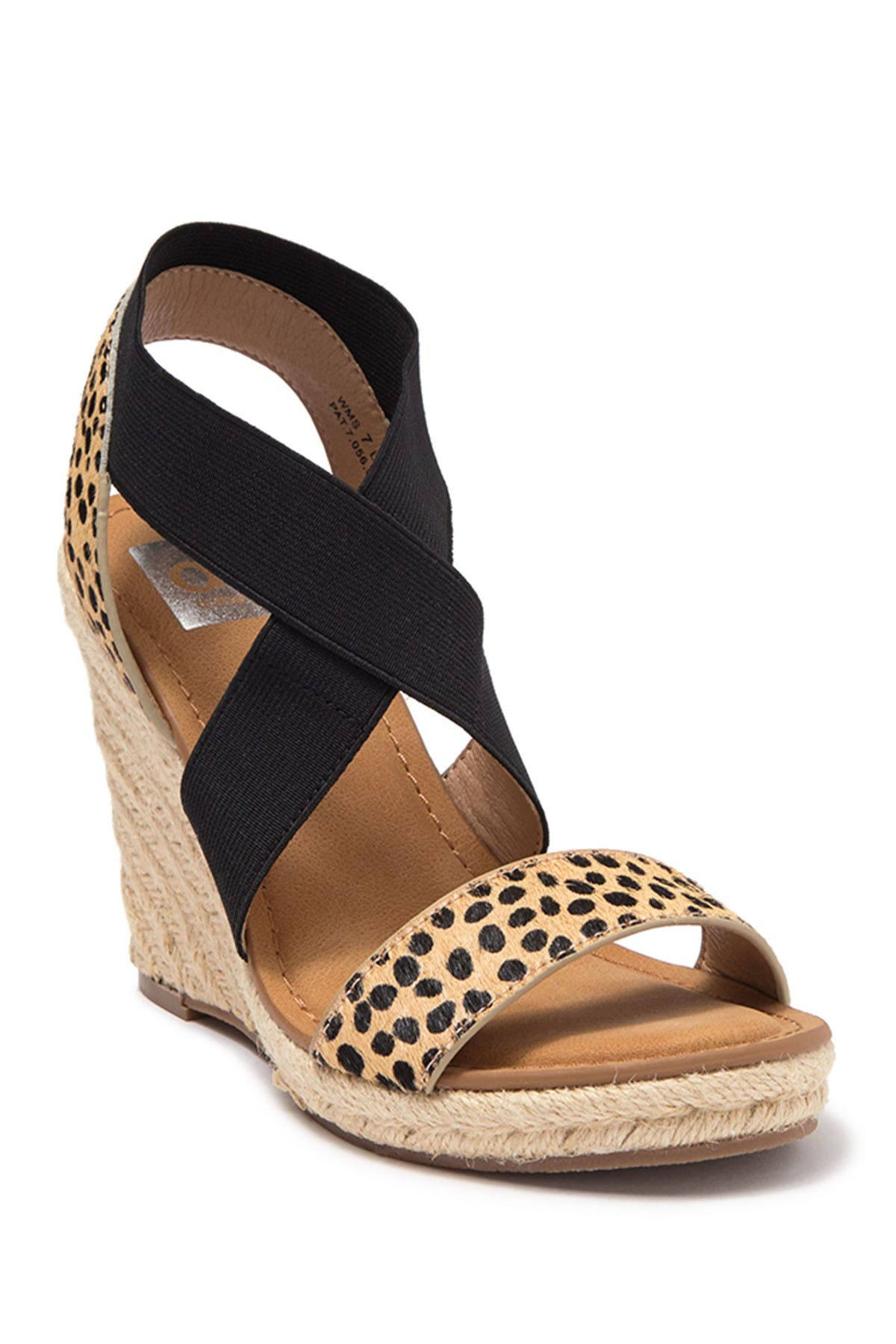 Image of DV DOLCE VITA Lyssa Espadrille Genuine Calf Hair Wedge Sandal