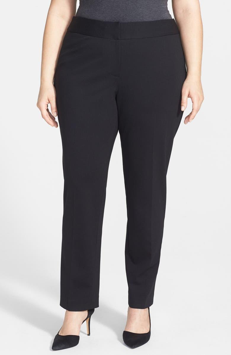 VINCE CAMUTO Stretch Trousers, Main, color, RICH BLACK