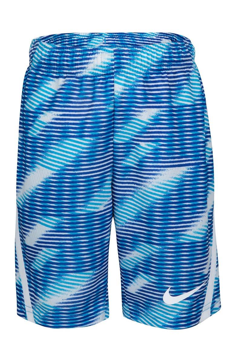 NIKE Dri-FIT Athletic Shorts, Main, color, LASER BLUE