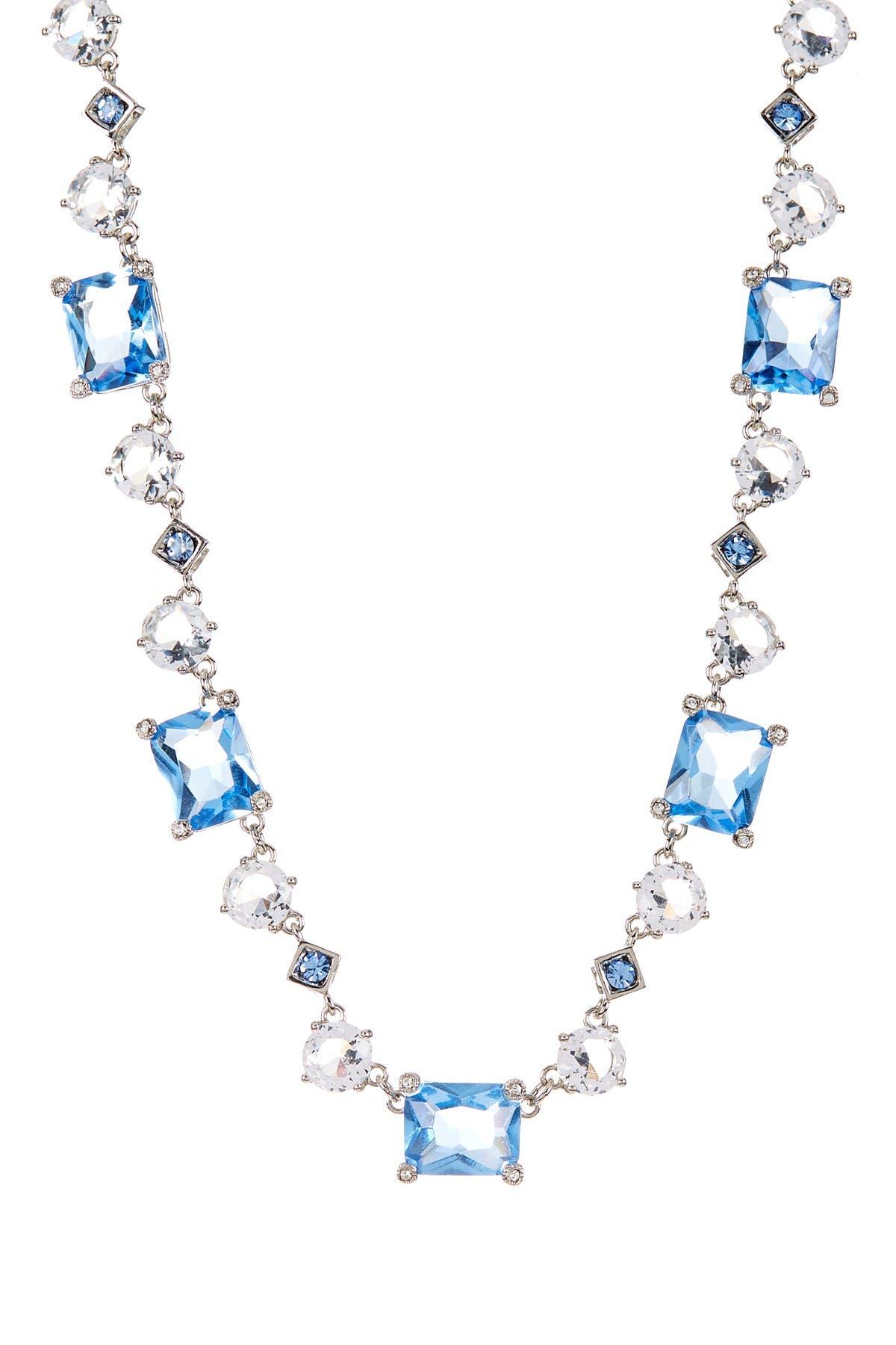 Image of Carolee Newport Nouveau Blue & White Station Necklace