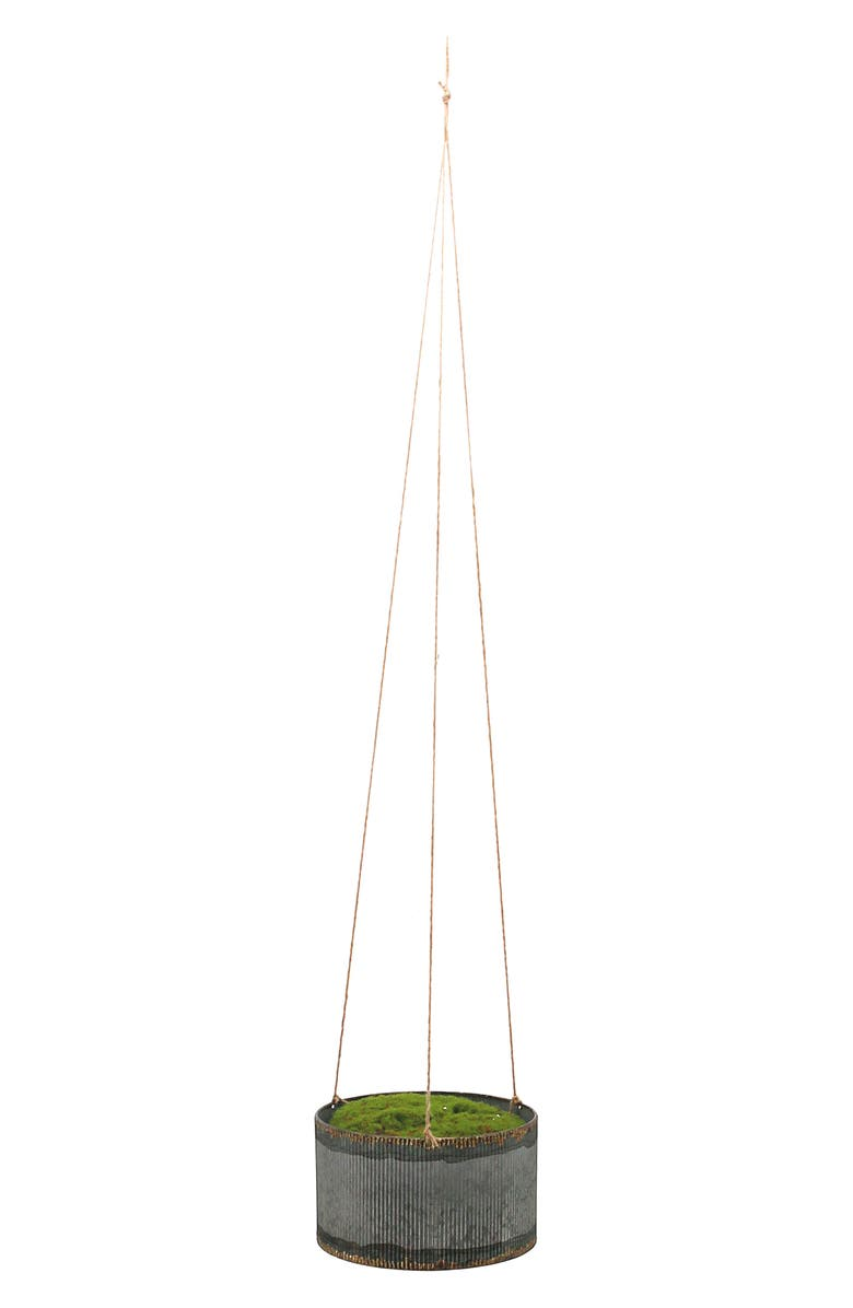 FORESIDE Drummond Small Hanging Planter, Main, color, METAL/ TWINE