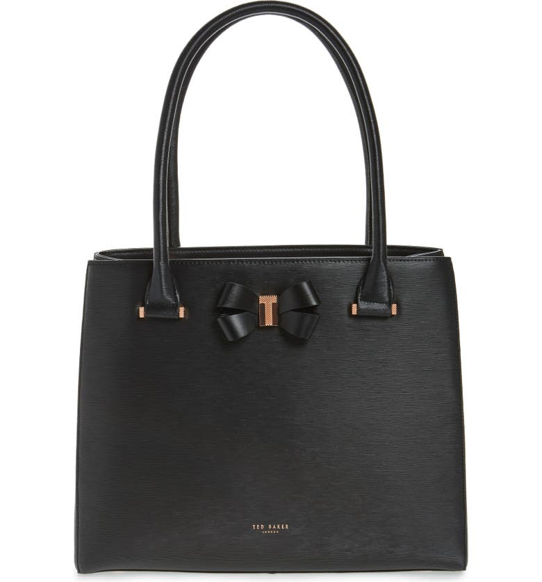 cc66356949 Ted Baker London Callaa Bow Leather Shopper | Nordstrom
