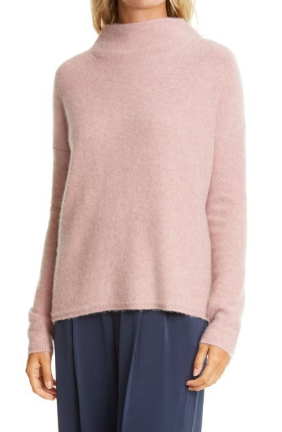 Vince FUNNEL NECK BOILED CASHMERE SWEATER