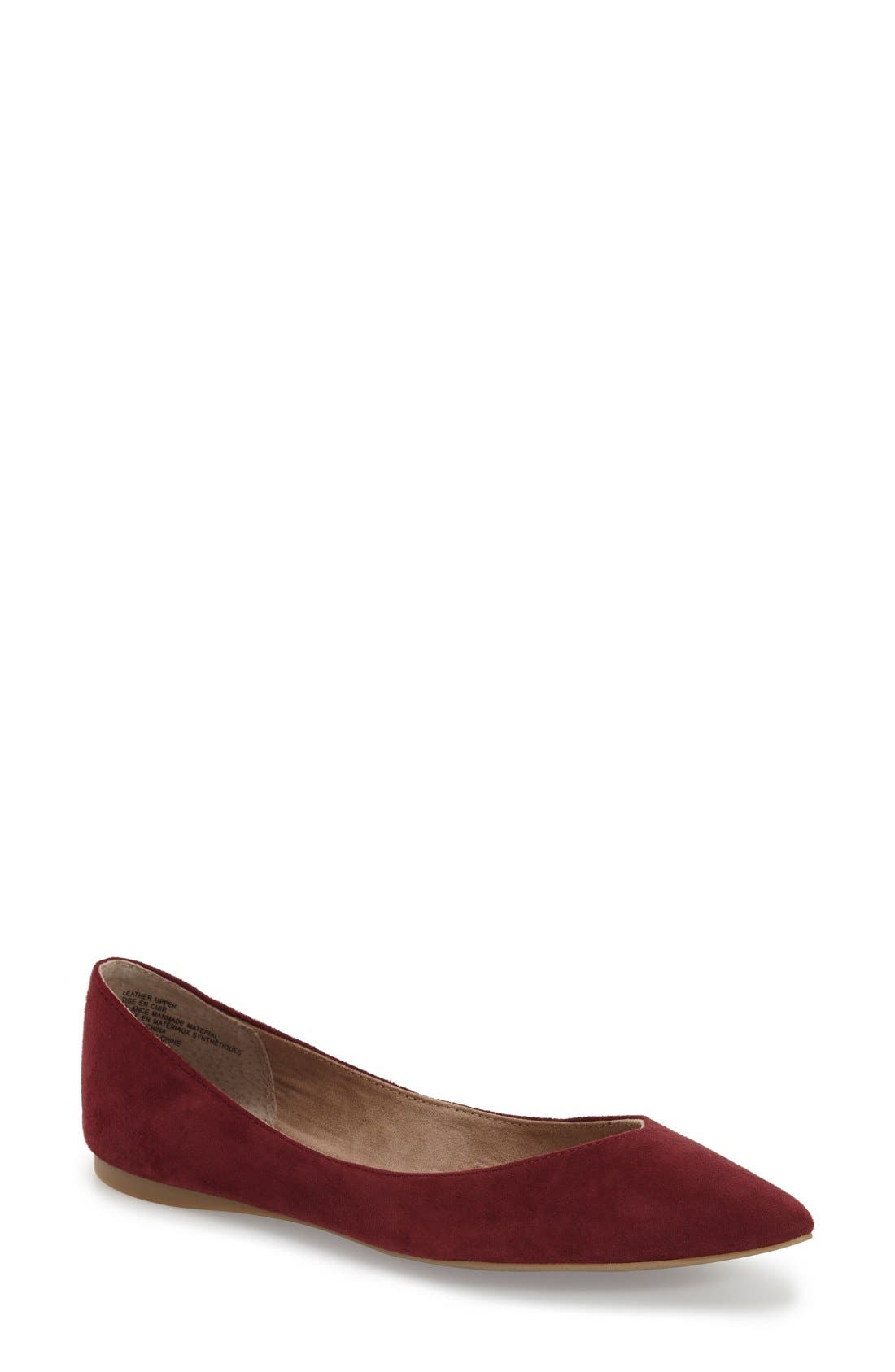 ,                             'Moveover' Pointy Toe Leather Flat,                             Main thumbnail 43, color,                             933