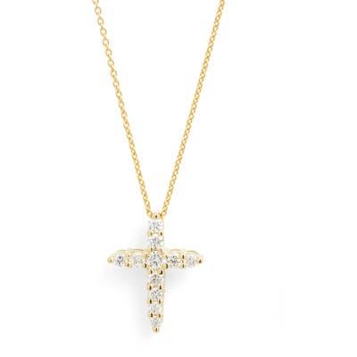 Roberto Coin Tiny Treasures Diamond Cross Pendant Necklace