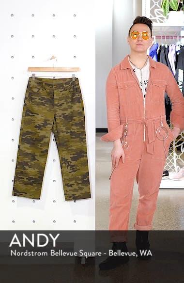 Camouflage Wide Leg Crop Pants, sales video thumbnail