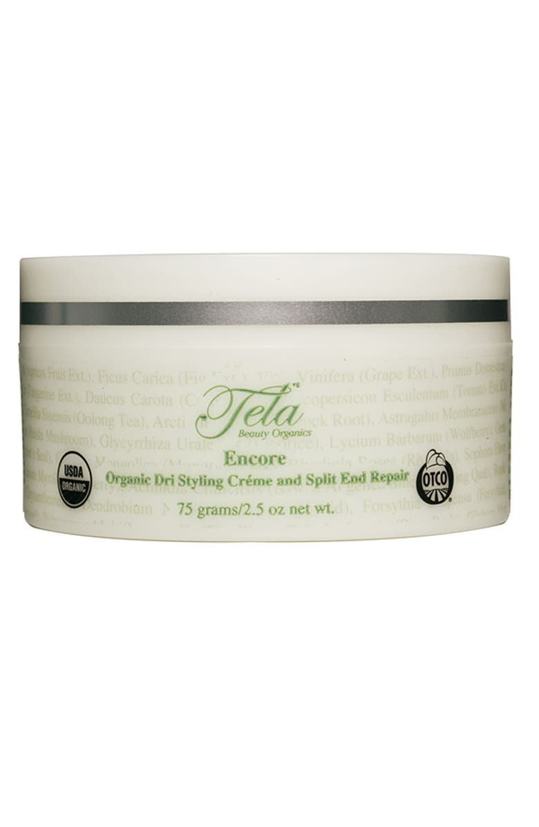 TELA BEAUTY ORGANICS 'Encore' Organic Dri Styling Créme and Split End Repair, Main, color, 000
