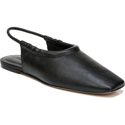 Vince Cadya Square Toe Slingback Flat- Black