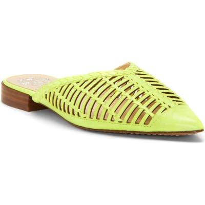 Vince Camuto Morley Woven Pointy Toe Mule- Yellow