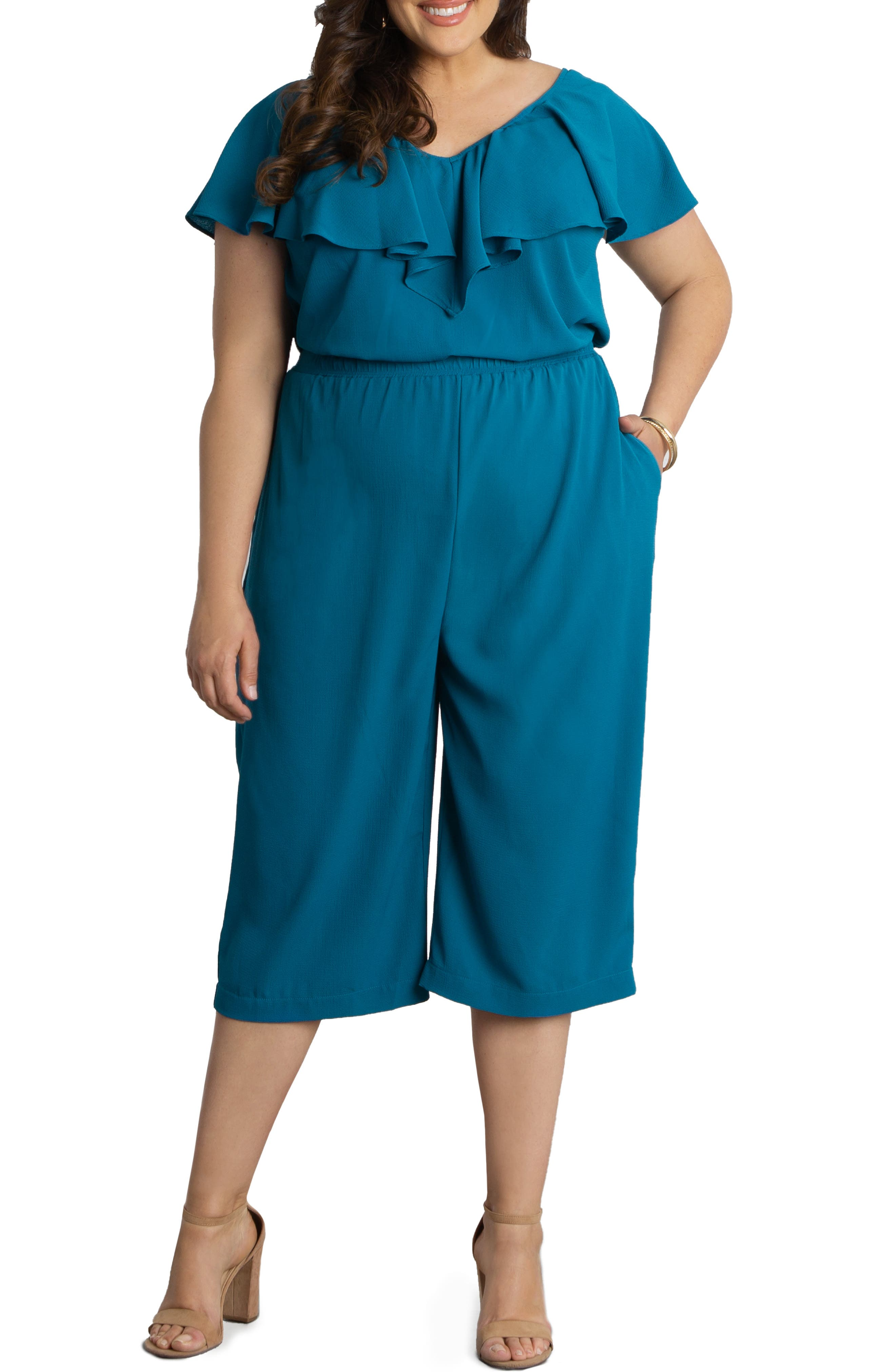 Avery Cropped Wide Leg Jumpsuit
