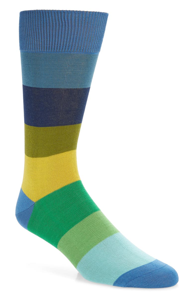 PAUL SMITH Perry Stripe Socks, Main, color, LIGHT BLUE
