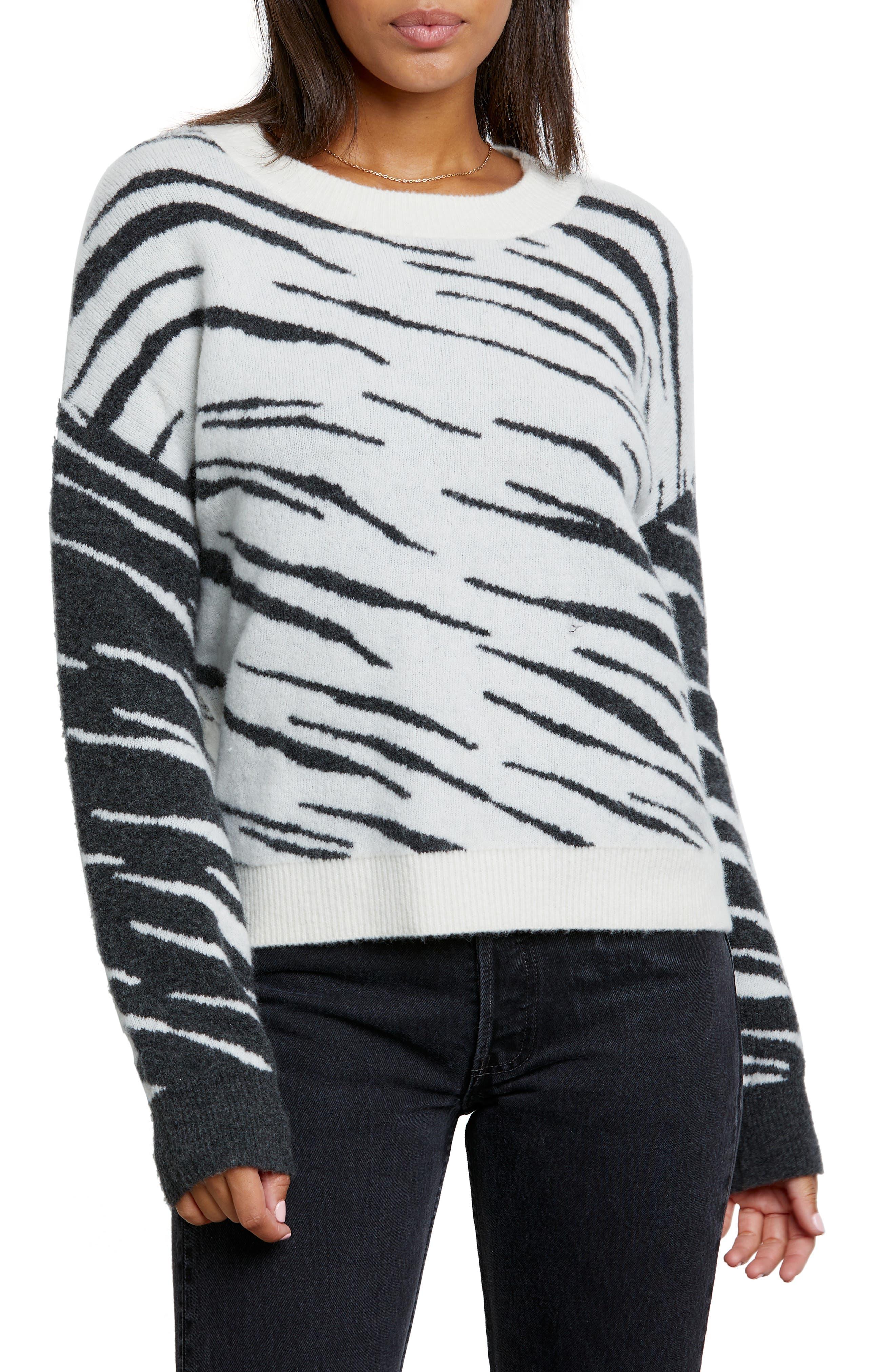 Image of Rails Lana Tiger Stripe Crewneck Sweater