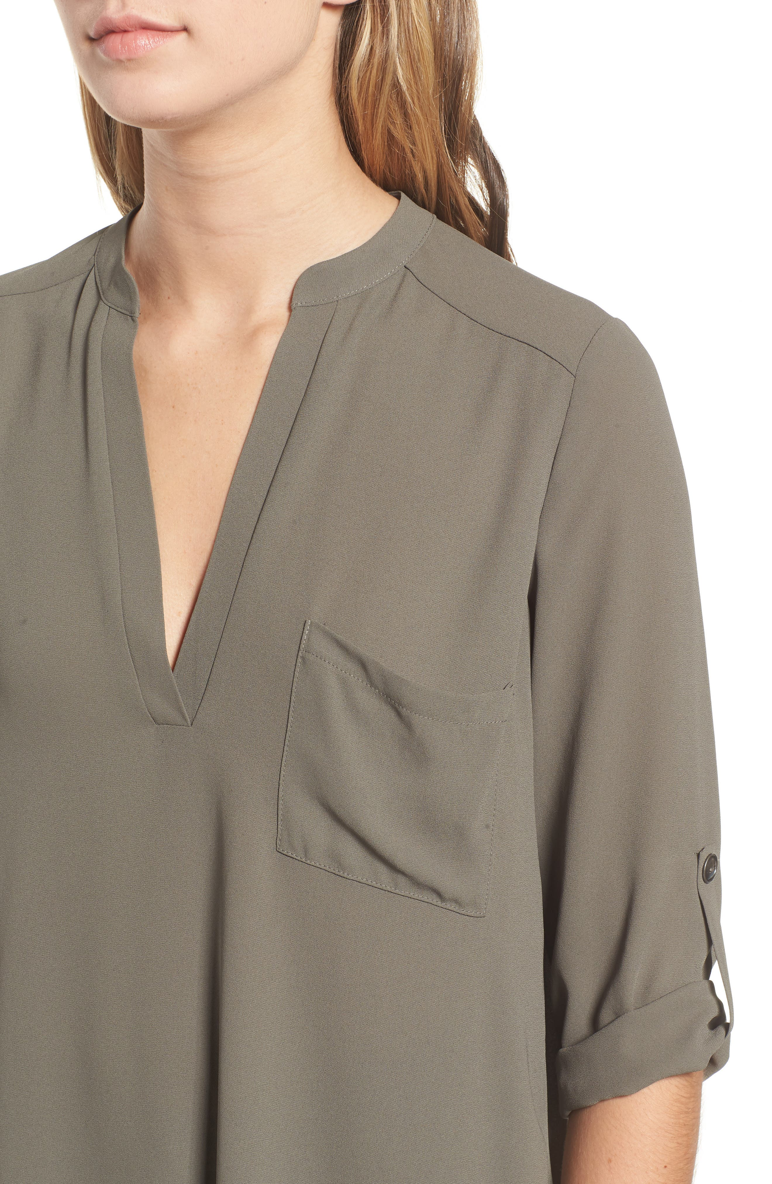 ,                             Perfect Roll Tab Sleeve Tunic,                             Alternate thumbnail 54, color,                             301