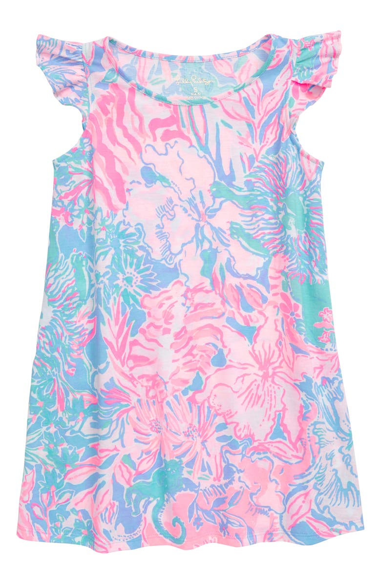 LILLY PULITZER<SUP>®</SUP> Ella Flutter Sleeve Dress, Main, color, 469