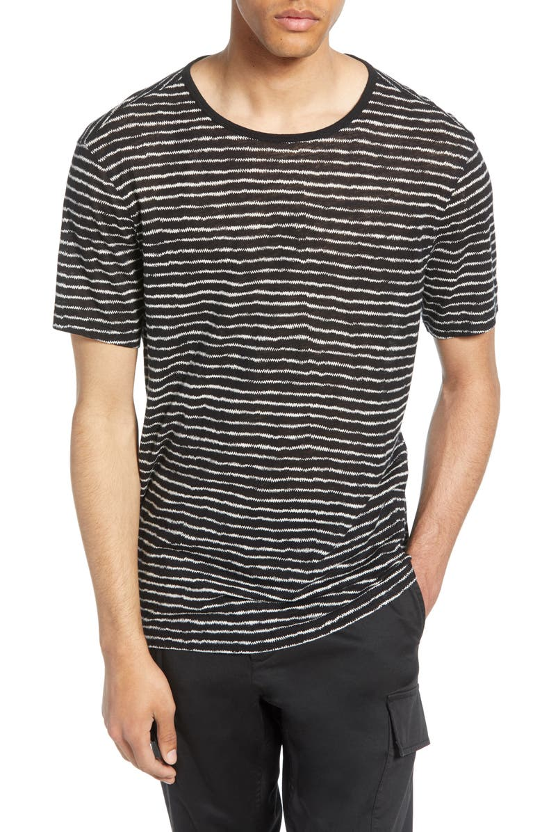 JOHN VARVATOS STAR USA Adrian Stripe T-Shirt, Main, color, 001