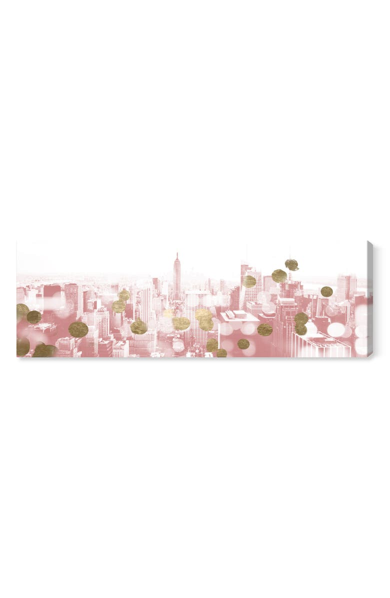 OLIVER GAL Blushing New York City Canvas Wall Art, Main, color, WHITE