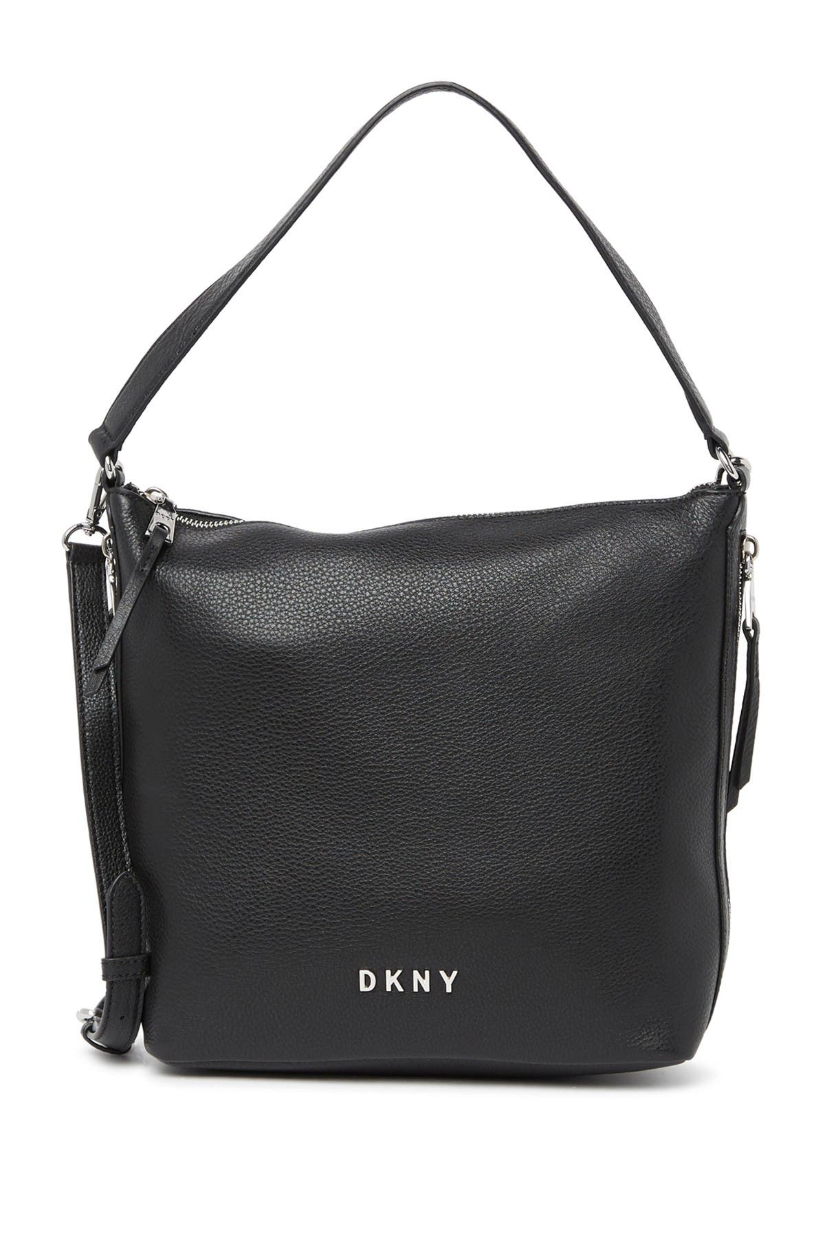 Image of DKNY Tappen Large Leather Hobo Bag