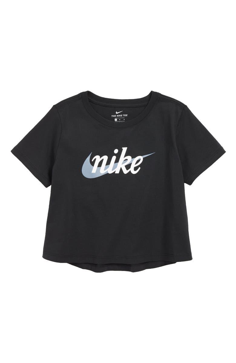NIKE Sportswear Baby Script Crop Tee, Main, color, 010