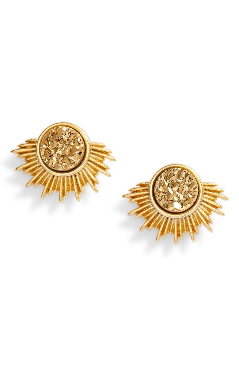 BRACHA Blaze Stud Earrings, Main, color, GOLD