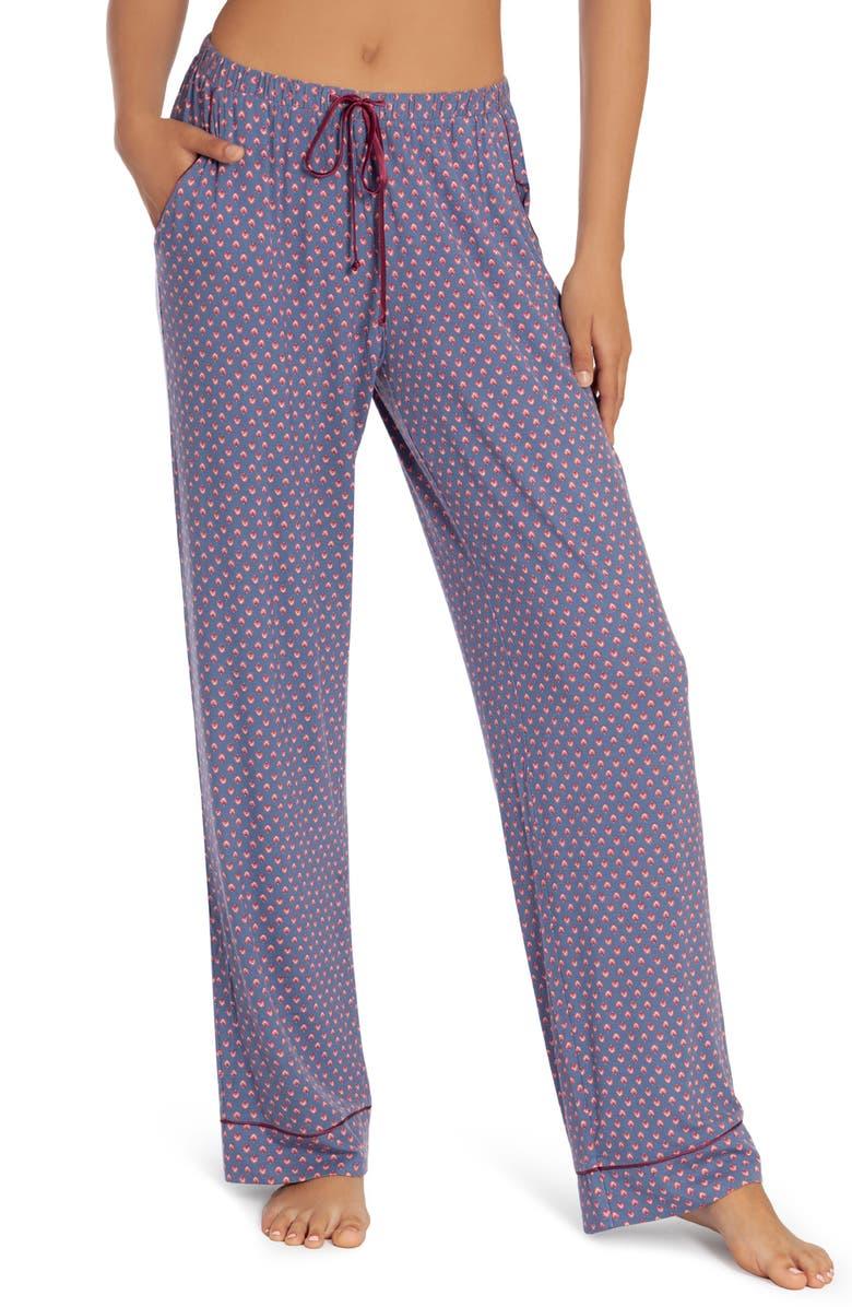 IN BLOOM BY JONQUIL Lexie Print Pajama Pants, Main, color, GEO- DARK BLUE