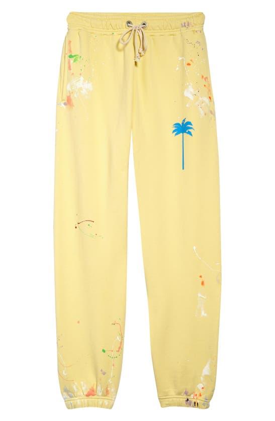 Palm Angels Pants LOGO PAINT SPATTER JOGGERS
