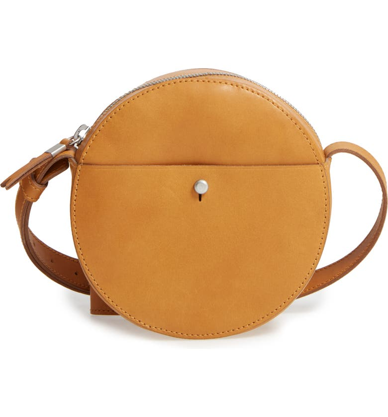 MADEWELL Marfa Leather Crossbody Bag, Main, color, 200