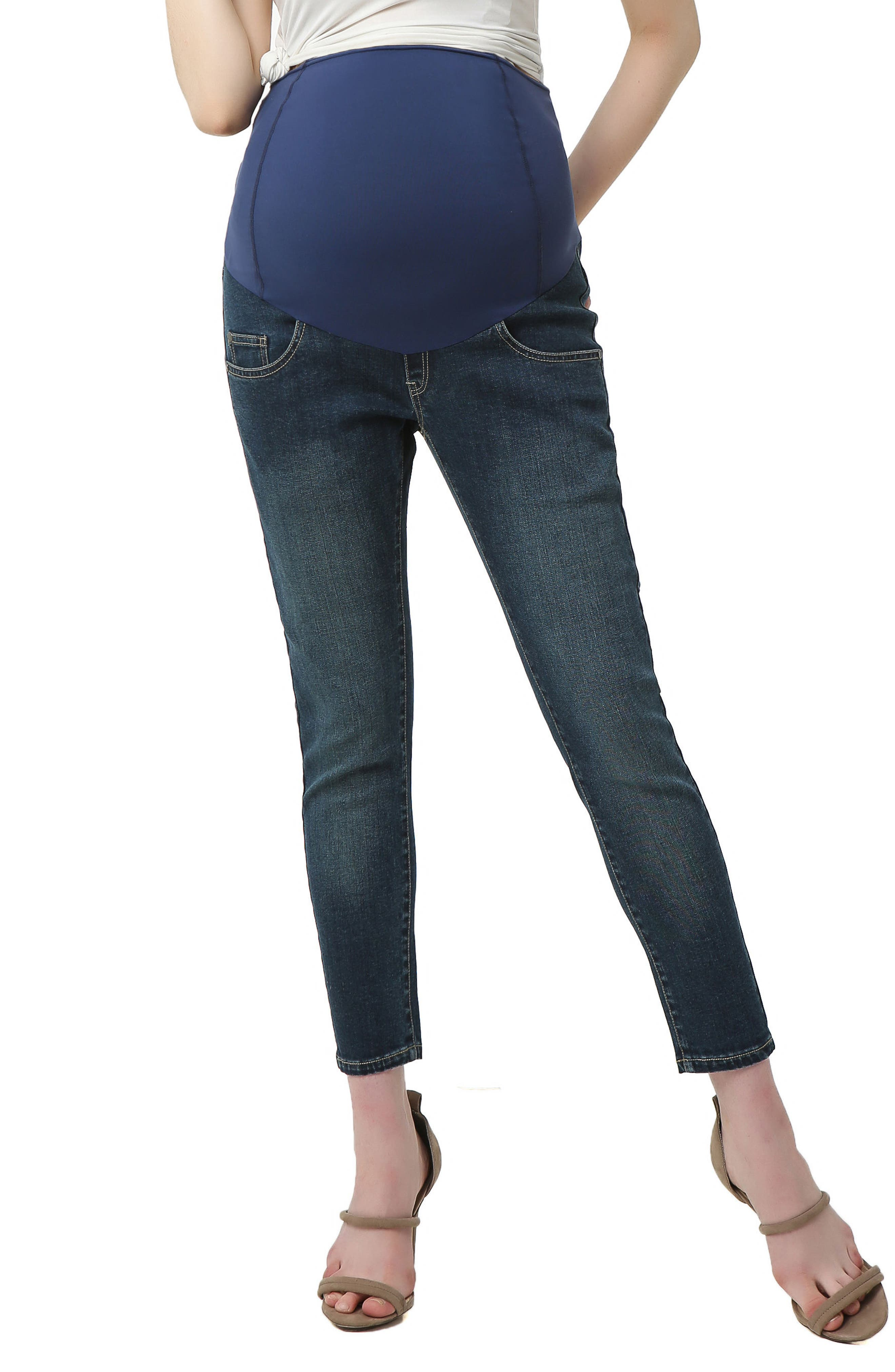 5fbb5a863cdf8 Women's Kimi And Kai Tara Crop Maternity Skinny Jeans