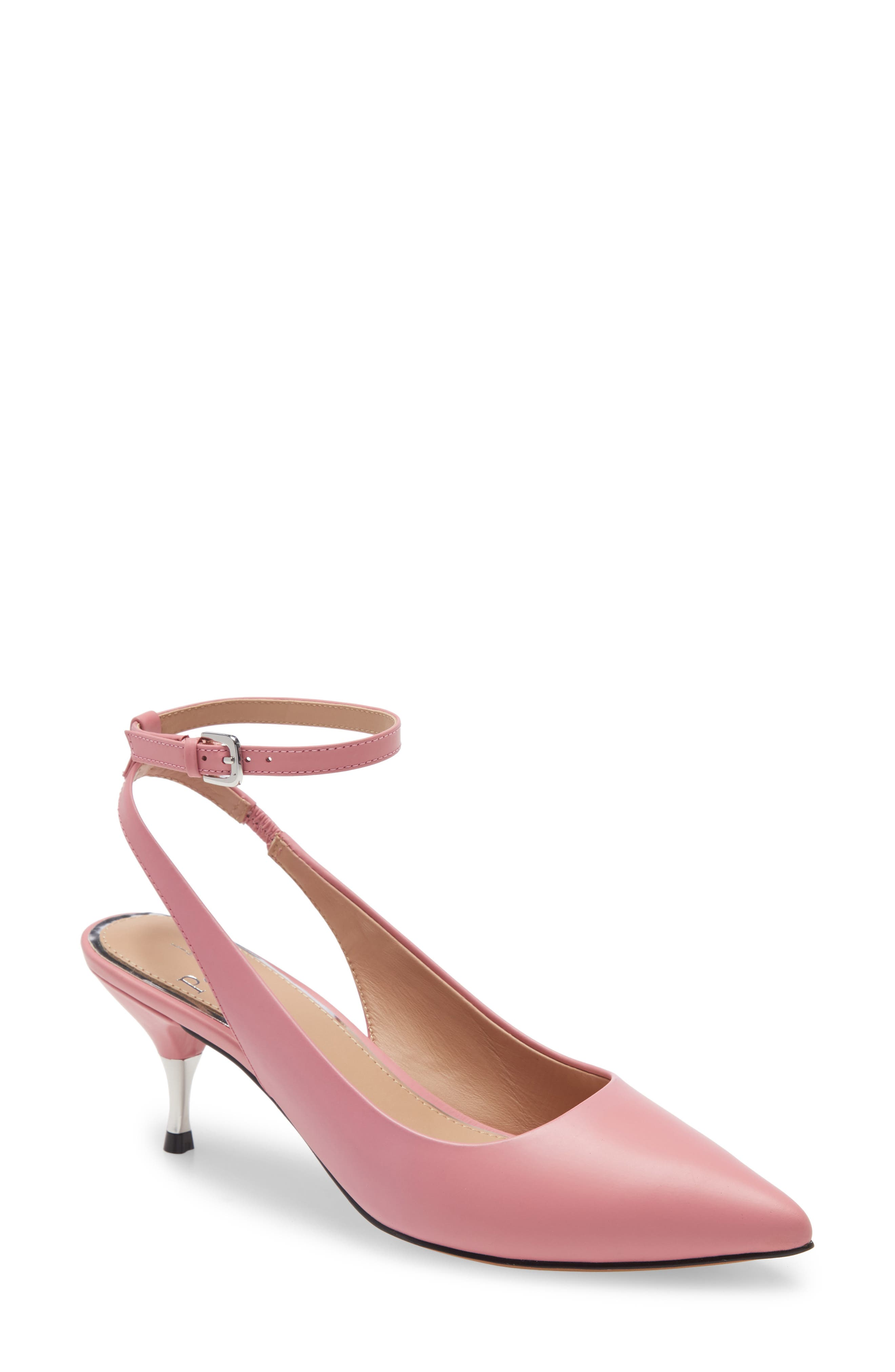A two-tone tapered heel lifts a poised pointy-toe pump secured by a svelte strap at the ankle. Style Name: Linea Paolo Callen Slingback Pump (Women). Style Number: 6014300. Available in stores.