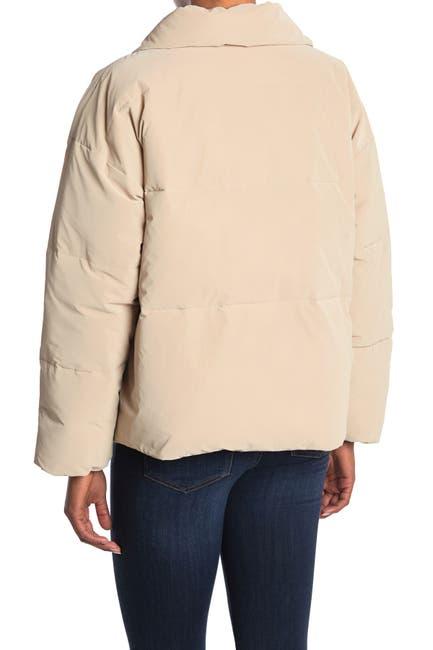 Image of Elodie Asymmetrical Zip Puffer Coat
