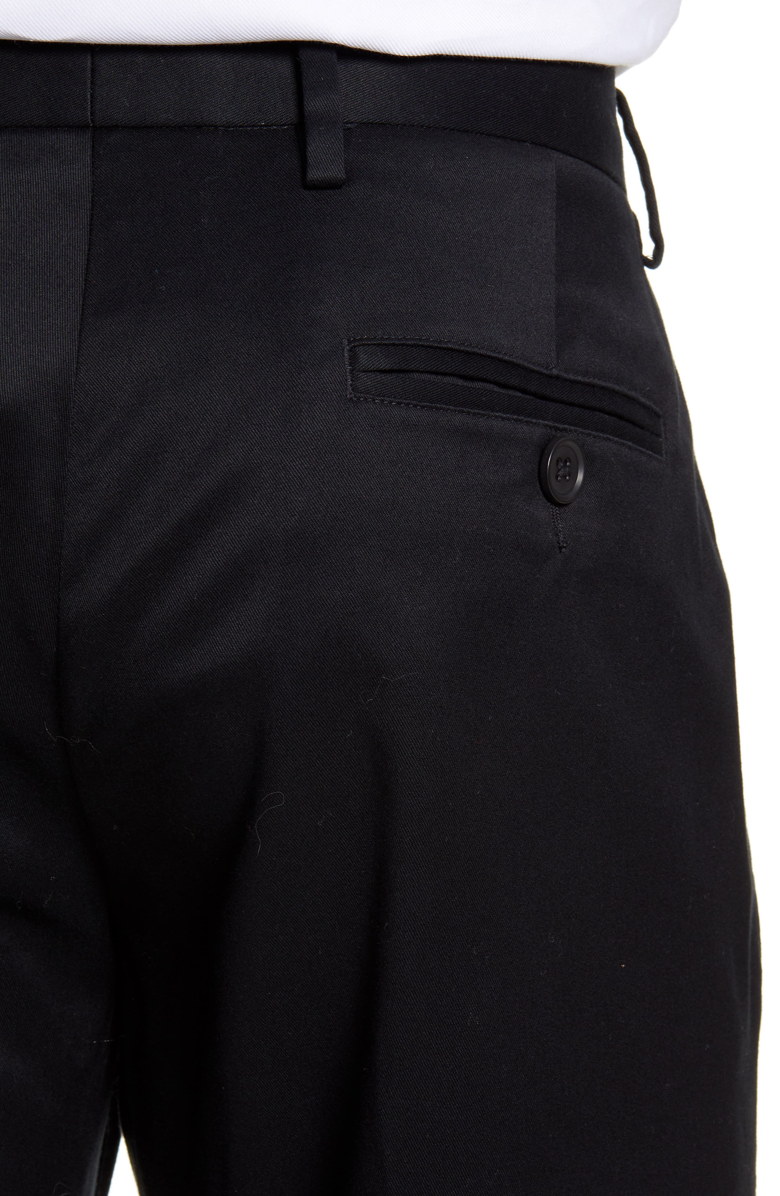 ,                             Athletic Fit Non-Iron Chinos,                             Alternate thumbnail 5, color,                             BLACK CAVIAR