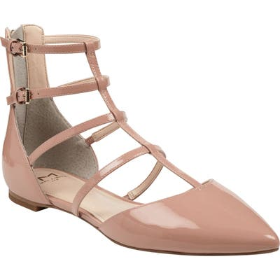 Marc Fisher Ltd Scoutly Strappy Pointy-Toe Flat, Pink