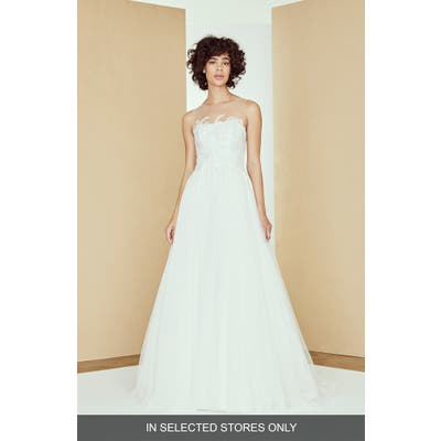 Nouvelle Amsale Adelaide Lace & Tulle Ballgown Wedding Dress, Size IN STORE ONLY - Ivory