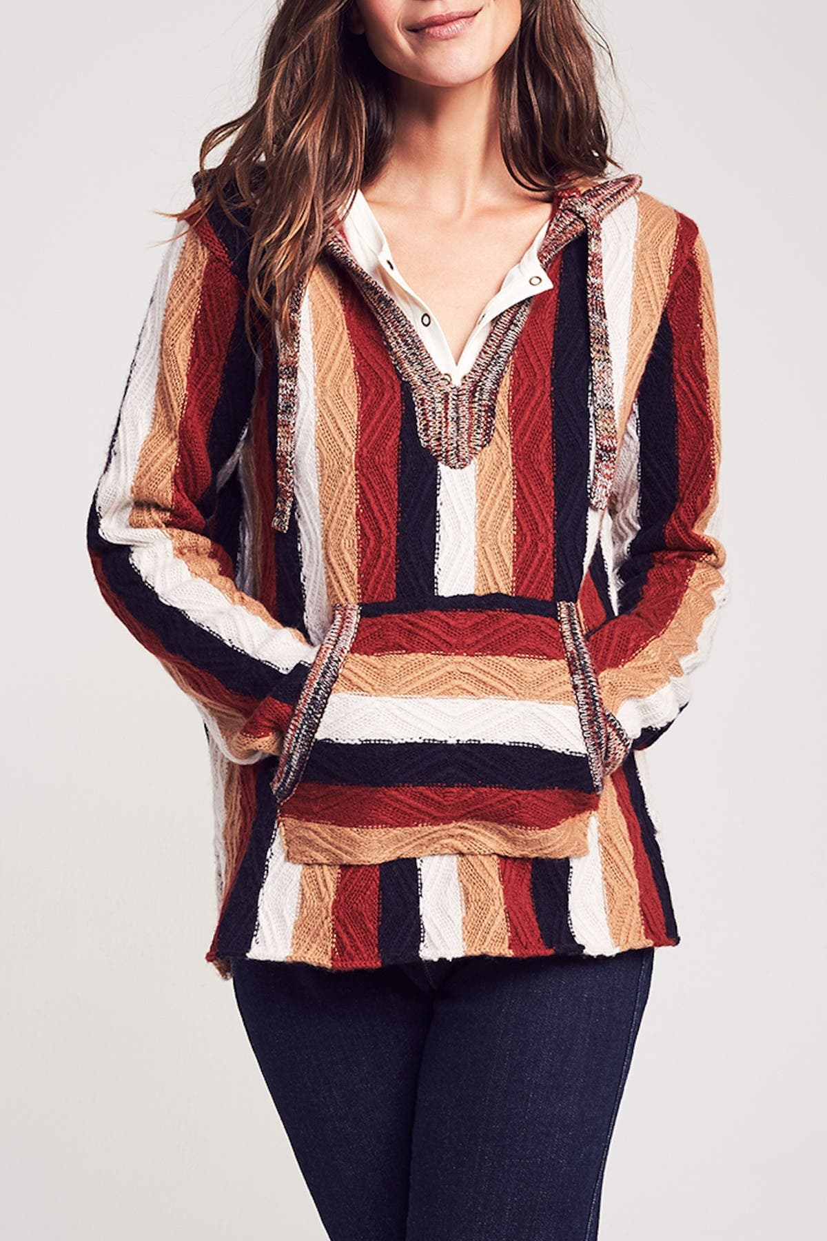 Image of FAHERTY BRAND Baja Wool & Cashmere Blend Poncho