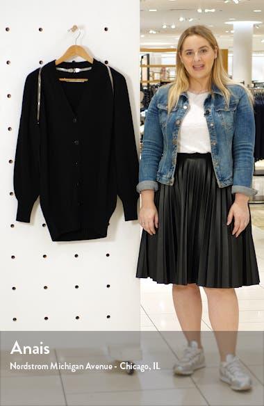 Zip Shoulder Merino Wool Cardigan, sales video thumbnail