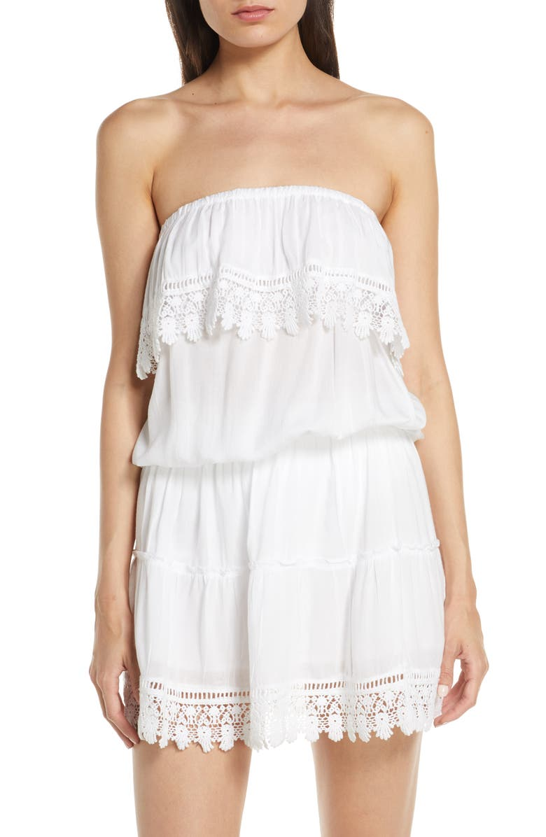 MELISSA ODABASH Joy Cover-Up Dress, Main, color, WHITE