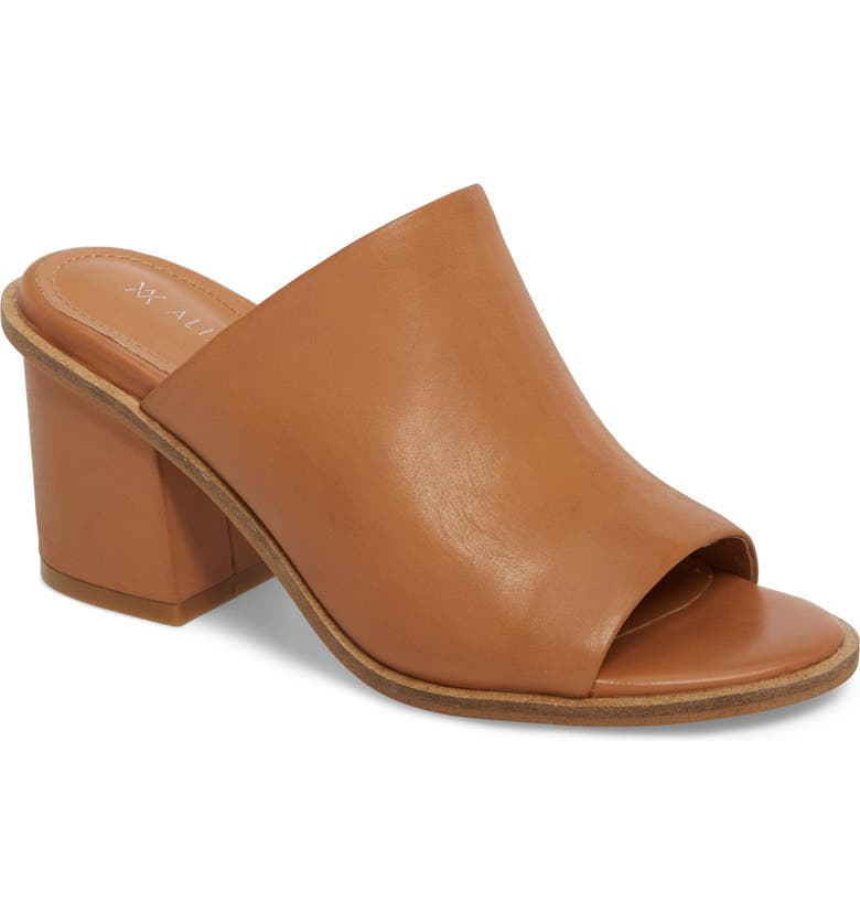 ALIAS MAE Gibson Mule, Main, color, TAN NUBUCK LEATHER