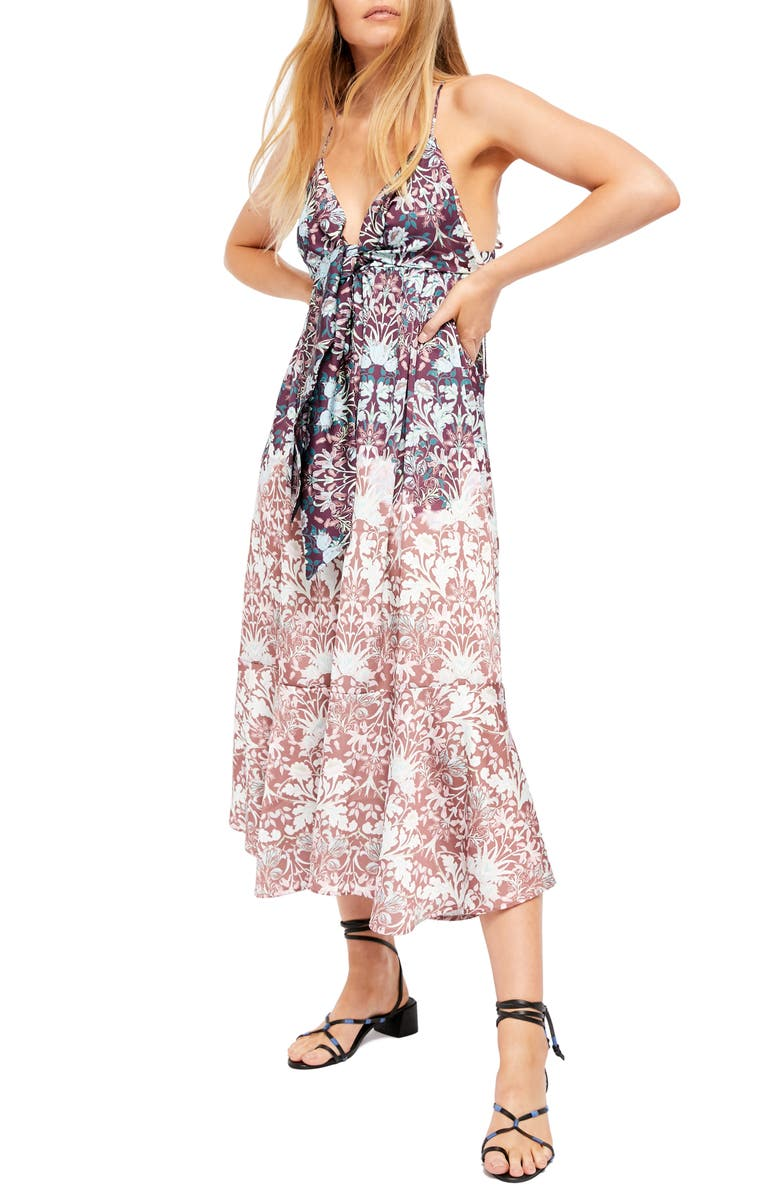 FREE PEOPLE Sun Bleached Dress, Main, color, CHOCOLATE COMBO