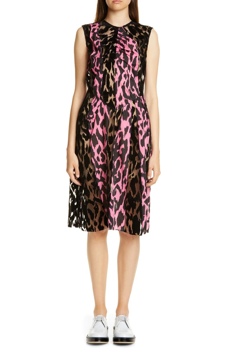 ASHLEY WILLIAMS Bunny Mix Flocked Tulle Dress, Main, color, 001