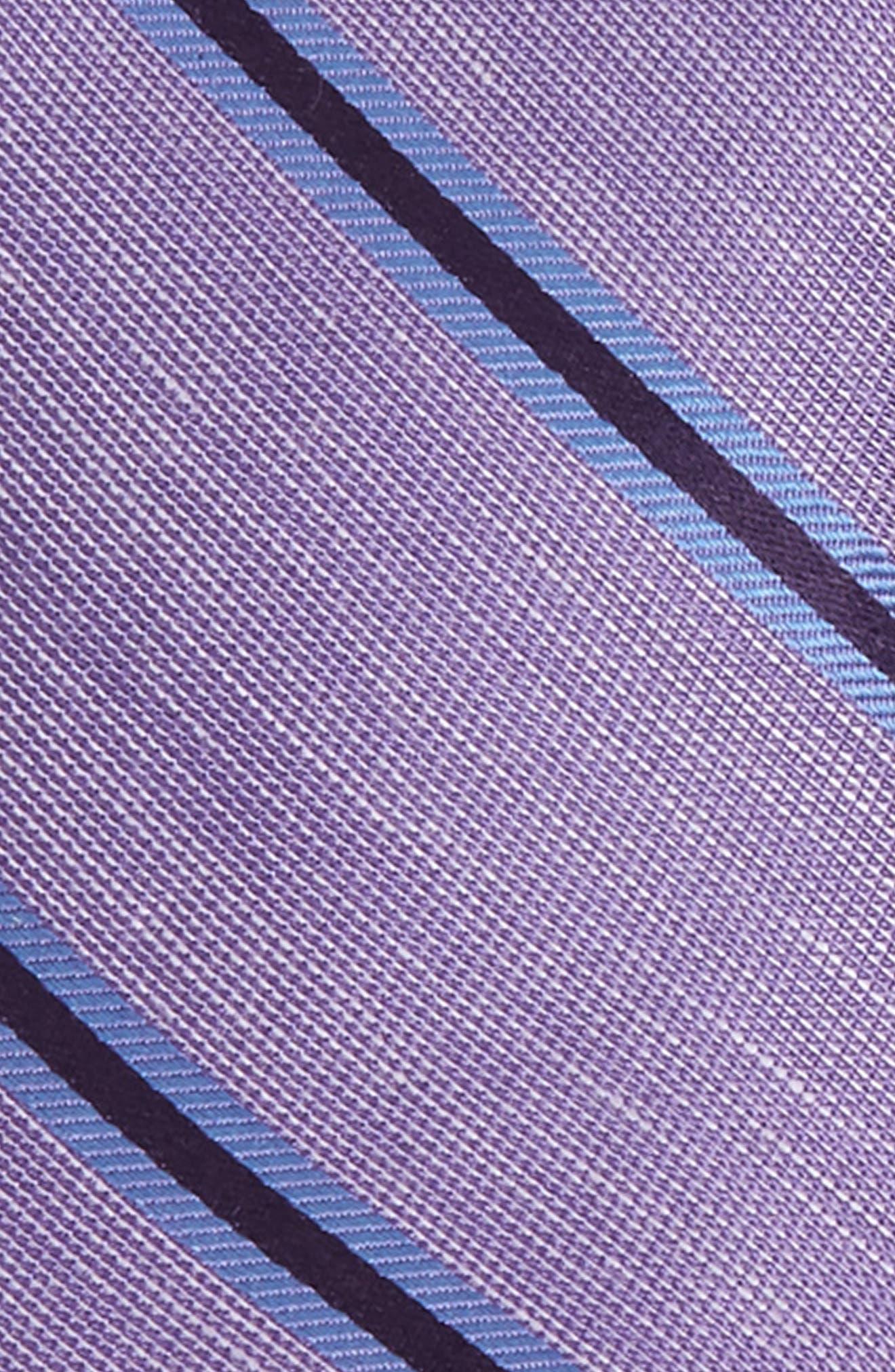 ,                             Purple Trend Set of 3 Skinny Silk Ties,                             Alternate thumbnail 3, color,                             PURPLE
