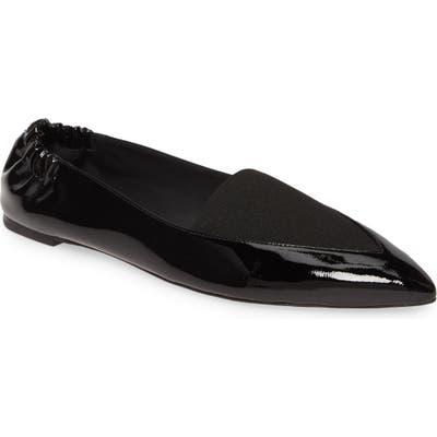 Mercedes Castillo Joay Pointy Toe Flat- Black