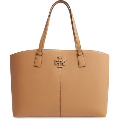 Tory Burch Mcgraw Leather Tote - Brown