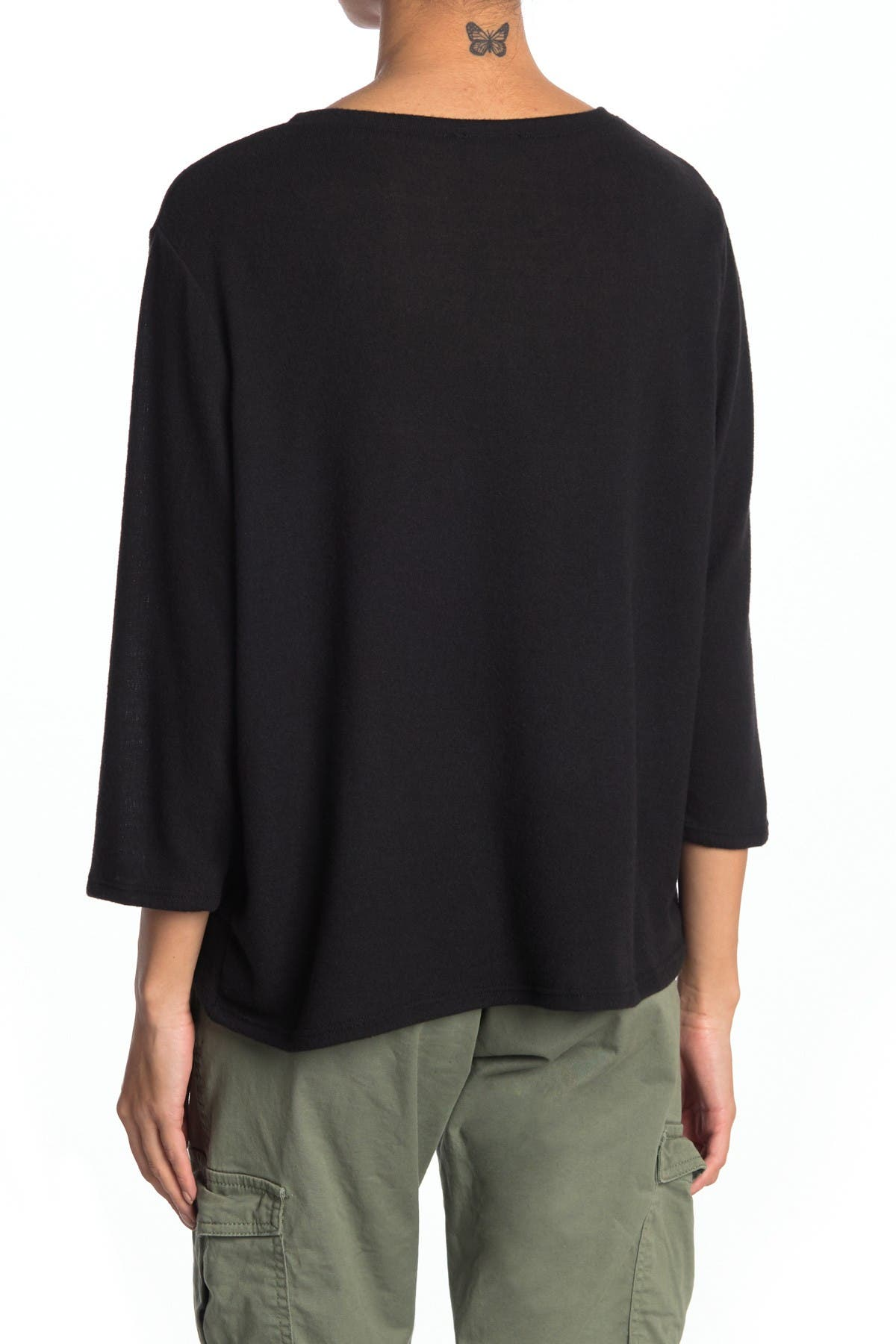 Image of RDI Front Knot Crew Neck Top