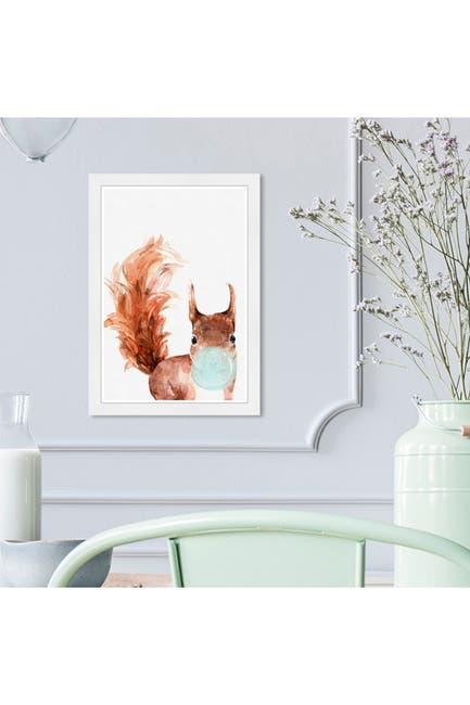 Image of Wynwood Studio Squirrel Bubblegum Brown Animals Framed Wall Art