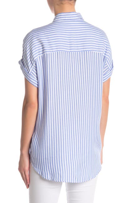 Image of BeachLunchLounge Spencer Striped Short Sleeve Camp Shirt